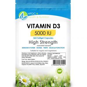 Vitamin D3 5000iu capsules
